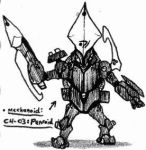 Mechanoids: CH-03 Penroid by Kainsword-Kaijin