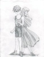 Heero and Relena by Aiya-Evenstar