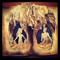 Altered Book: Disraeli in Love by Lalalalea35