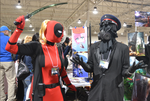 Lady Deadpool and Ze Captain by SnowboardingTaco