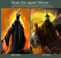 Draw this again! Nazgul. by talitapersi