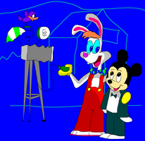 Roger Rabbit & Mickey Mouse by TXToonGuy1037