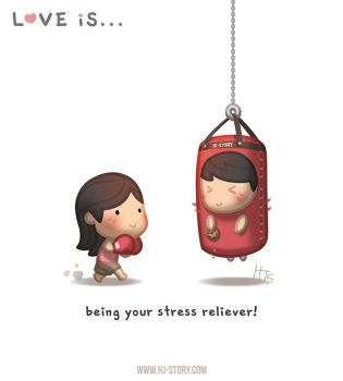 Love is... Stress Reliever by hjstory