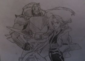 'The Elric Brothers' Edward and Alphonse by CommanderDesu