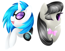 Vinyl Scratch + Octavia Headshots by Xeella