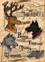 The Marauers - animal forms by byLau