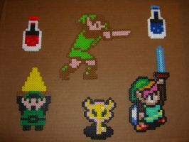 Legend of zelda bead sprites 1 by zaghrenaut