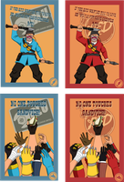 TF2 Postcards - Pt 5 by ryuuza-art