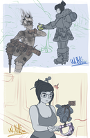 Overwatch - Meihem - Canteen and Trap by WolfKIce