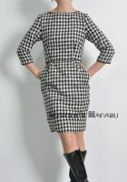 Check Wool Tulip Dress 4 by yystudio