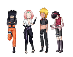 Naruto Shippuden - Team 7 Cosplay Time by Flasho-D