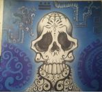 Mayan Skull Serpent Dreams by MayanMuscle