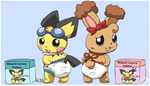Pokediaper models by pichu90