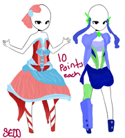 10 point outfit adoptables. by SailorEarth00