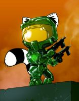 Master Chief Raccoon by DevilHS