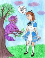 Alice and the Cat by Violeta960