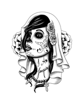 Day of the Dead Tattoo Design by ansatsushawdi