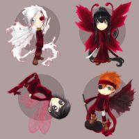 DGM - Fairy chibis 1 by Questofdreams