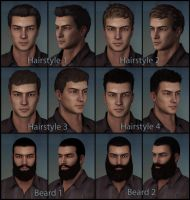 Male Hairstyles and Beards by deexie