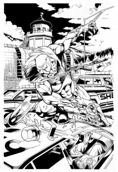 DEATHSTROKE # 12 PAGE # 02-Inker-Sandro Ribeiro by Sandrotrs