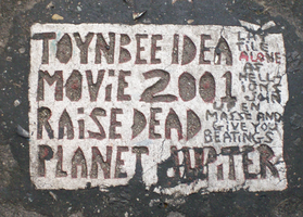 Toynbee tile on South Street by theeaterofworlds