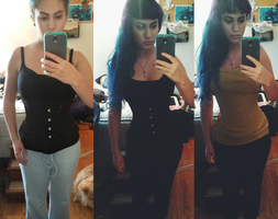 Corset    before and 1 month by tiny-moon