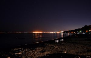Night by the Beach by Herculesi