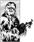 Chewbacca : Lineart by salvagion