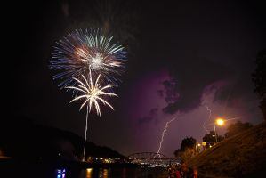 Fireworks on the Kanawha River by TDBPhotography
