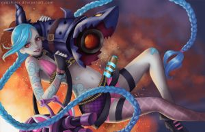 League of Legends Jinx by SaintPrecious