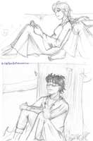 Quiet time (Harry and Ginny) by ladysugarquill