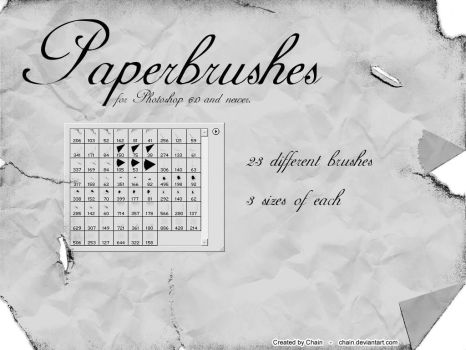 Paperbrushes by chain
