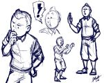 Tintin Sketches by Kuraime