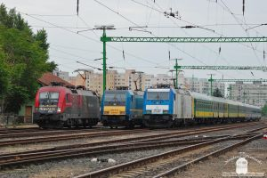 470 503 and two traxx resting in Gyor, 2014. by morpheus880223