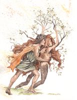 Apollo and Daphne by trollmaiden