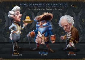 Project Blue Beard _ NPCs by yangtianli