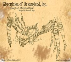 Steampunk Mechanical Spider Concept Art by aldoggartist2004