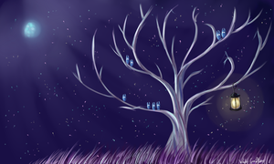 Moon tree by whitecrow-soul