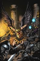 Hawkman Battle by JeffieB