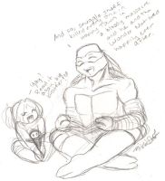Brother + Sister - Storytime by nichan