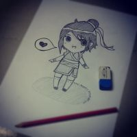Learn how to draw a chibi by SongAhIn