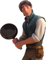 Tangled Flynn Ryder with the Frying Pan PNG. by ENT2PRI9SE