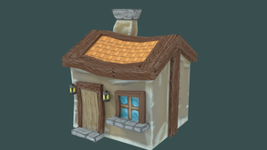 Cartoon Style 3D House by Piplington