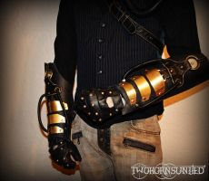 The HydroPunk Steampunk/Dieselpunk gauntlets by TwoHornsUnited