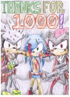Thanks for 1000 by Dogwhitesector