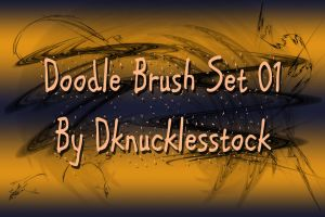 Doodle Brush Set 01 by dknucklesstock