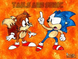 sonic and tails AOSTH style by disneylouis