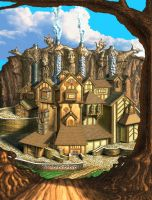 Storybook village by Spazwerks