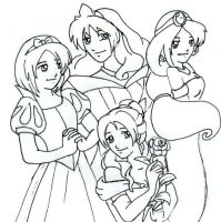 Disney Princess Dress Up by amaipeach