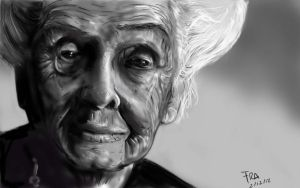 Rita Levi Montalcini - Portrait Exercise by Mordred-87